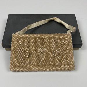 Sweet tiny vintage pearl handbag